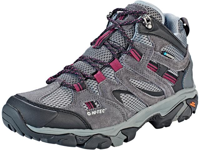 Hi-Tec Ravus Vent Mid WP Schuhe Damen charcoal/cool grey/amaranth